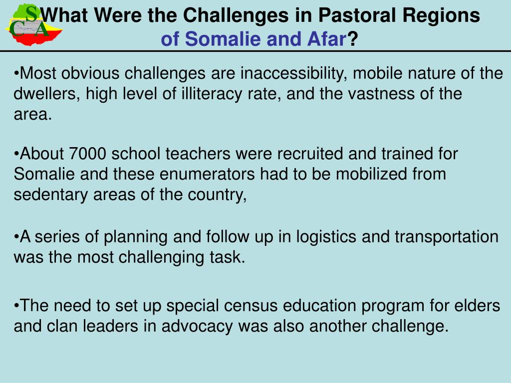 What Were the Challenges in Pastoral Regions