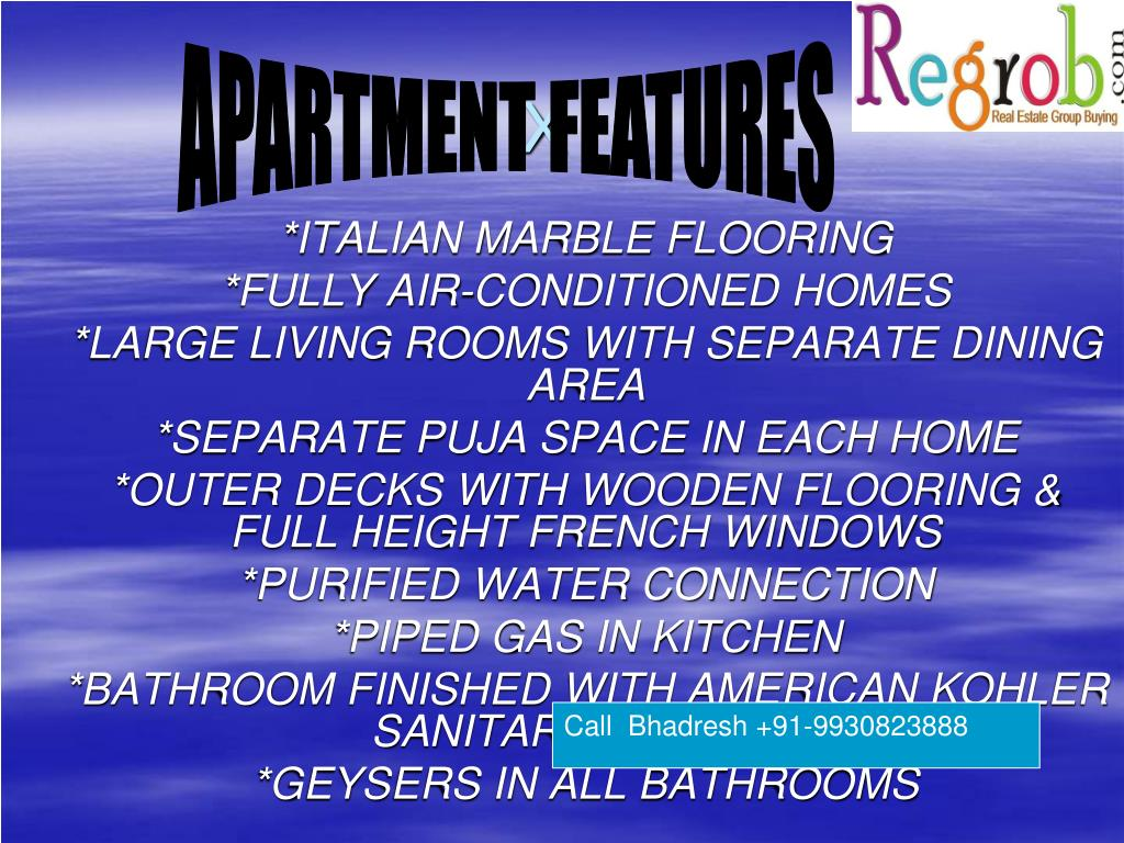 APARTMENT FEATURES