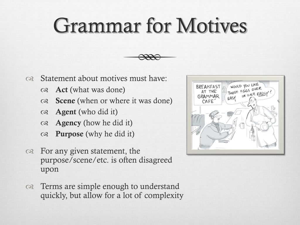 Grammar for Motives