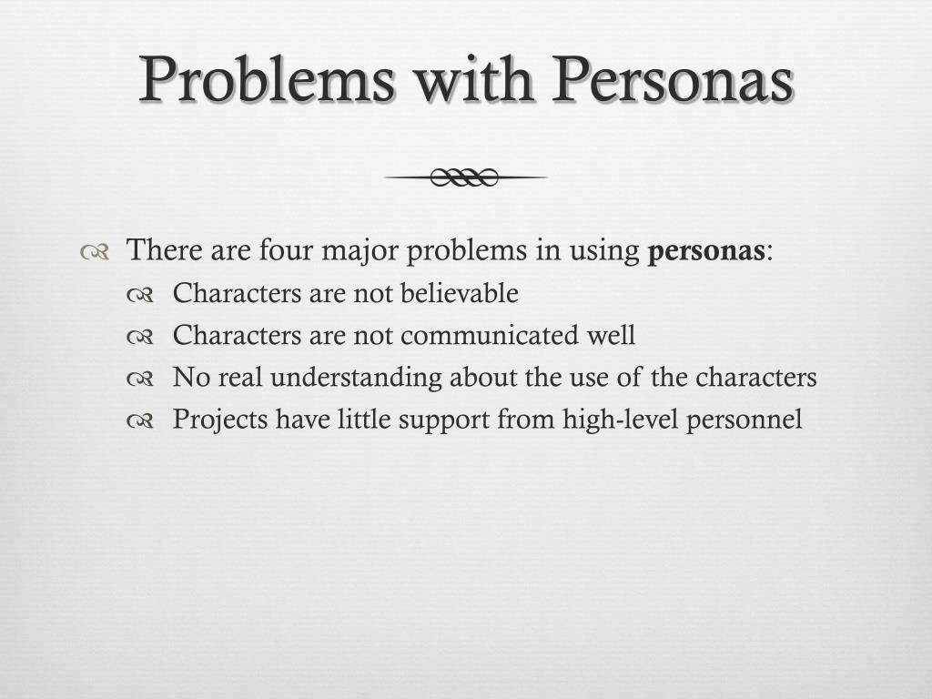 Problems with Personas