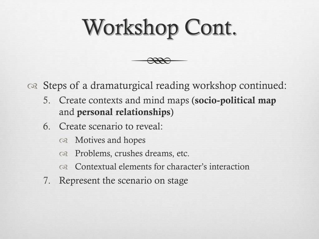 Workshop Cont.