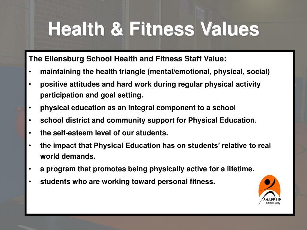 Health & Fitness Values