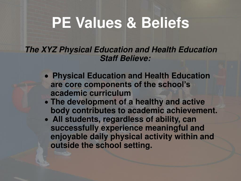 PE Values & Beliefs