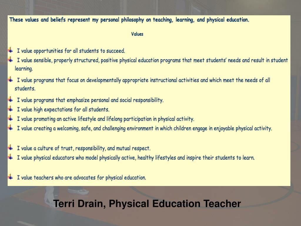 Terri Drain, Physical Education Teacher