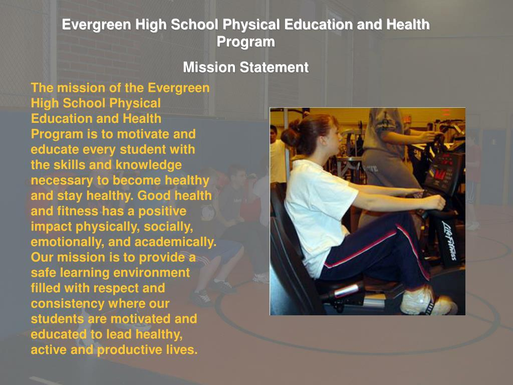 Evergreen High School Physical Education and Health Program