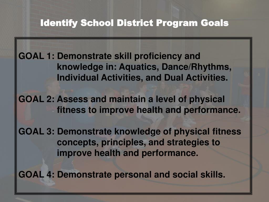 Identify School District Program Goals