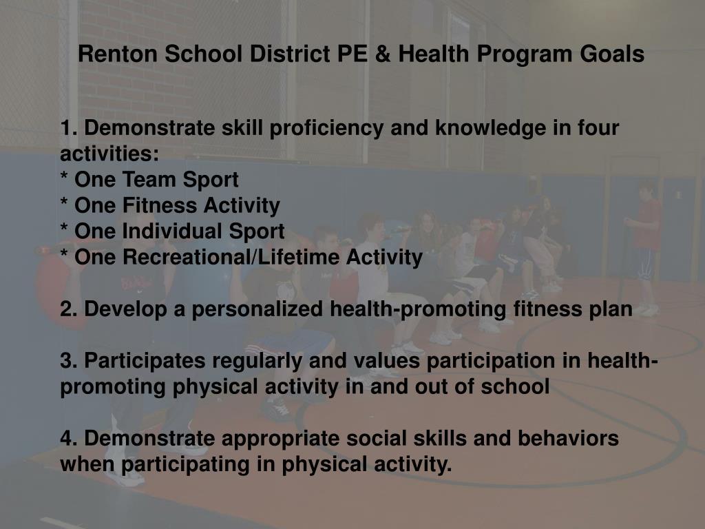 Renton School District PE & Health Program Goals