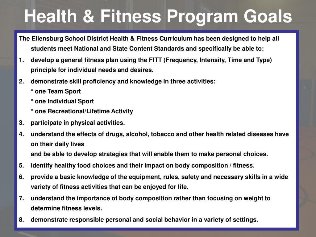Health & Fitness Program Goals