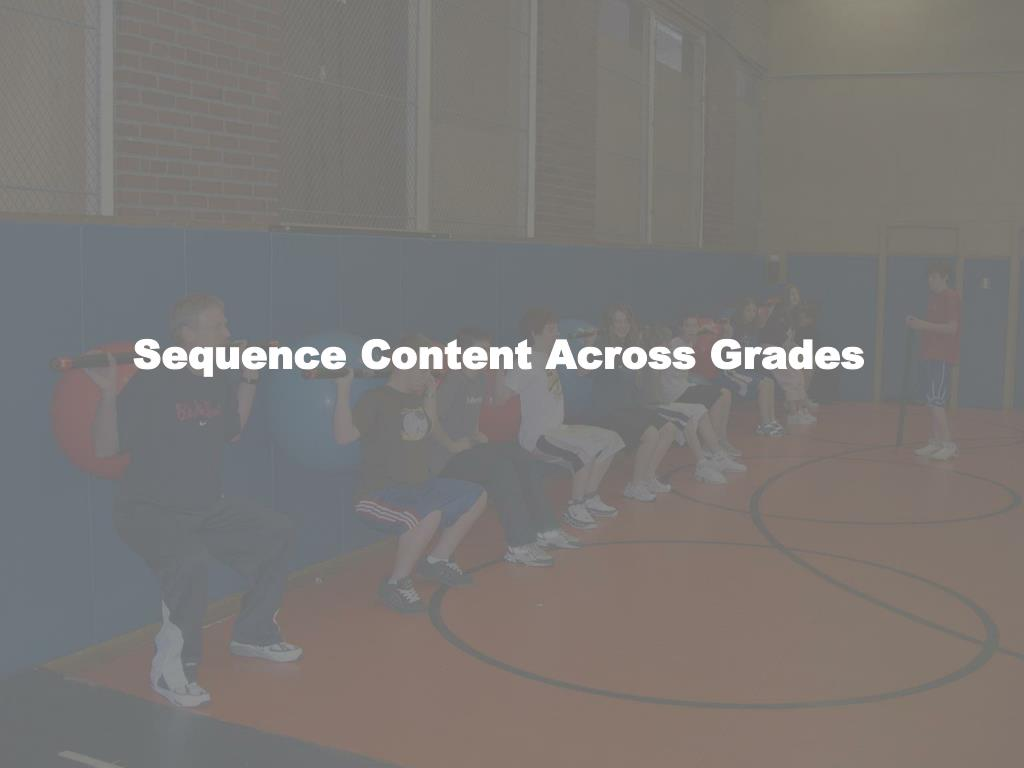 Sequence Content Across Grades