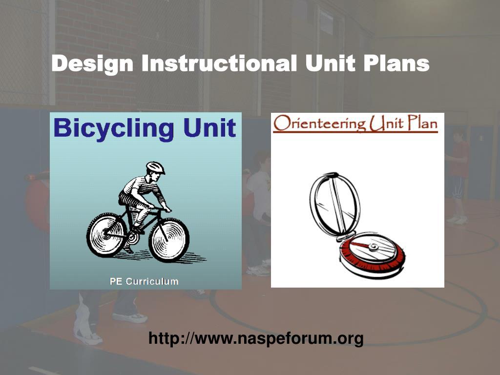 Design Instructional Unit Plans