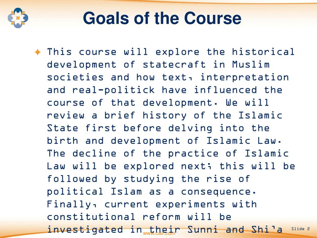 Goals of the Course