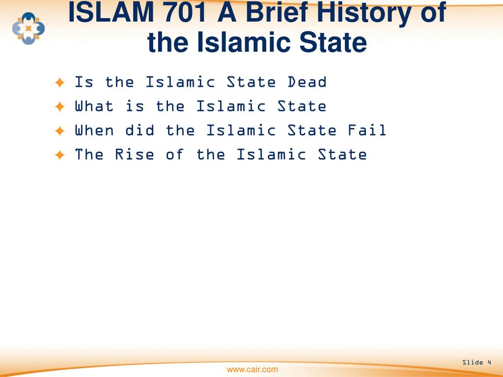 ISLAM 701 A Brief History of the Islamic State