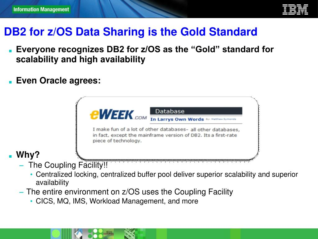 DB2 for z/OS Data Sharing is the Gold Standard