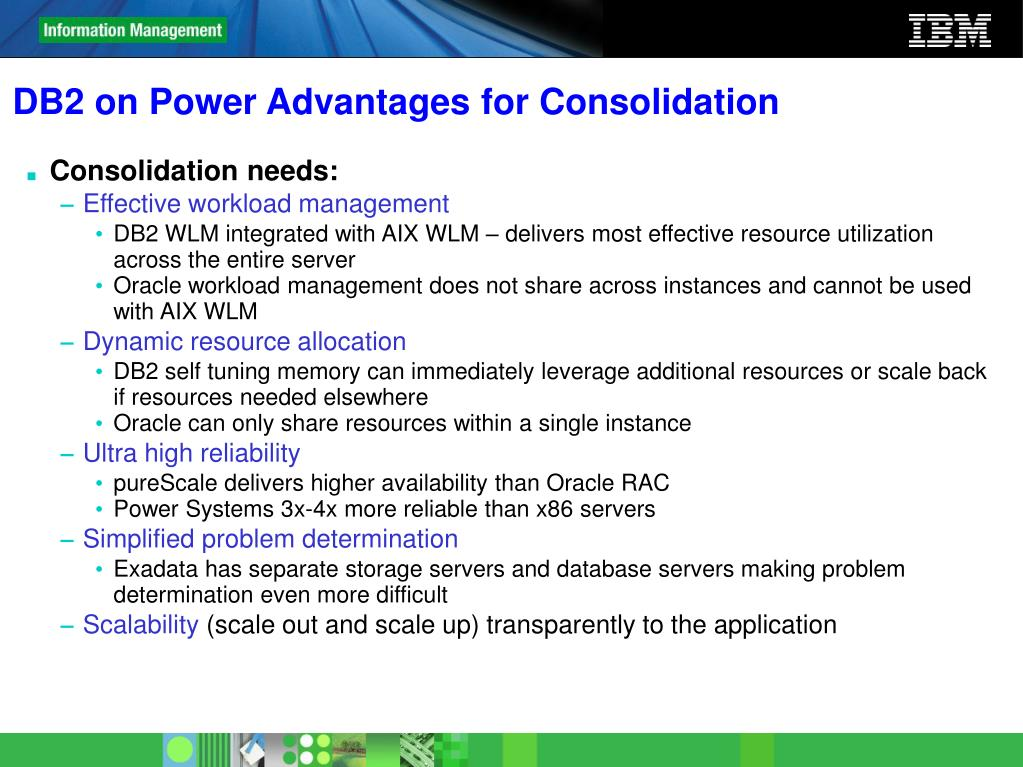DB2 on Power Advantages for Consolidation