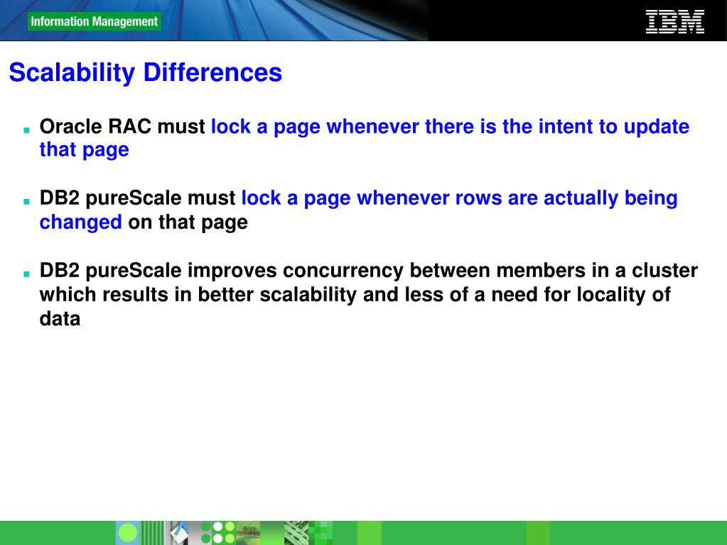 Scalability Differences