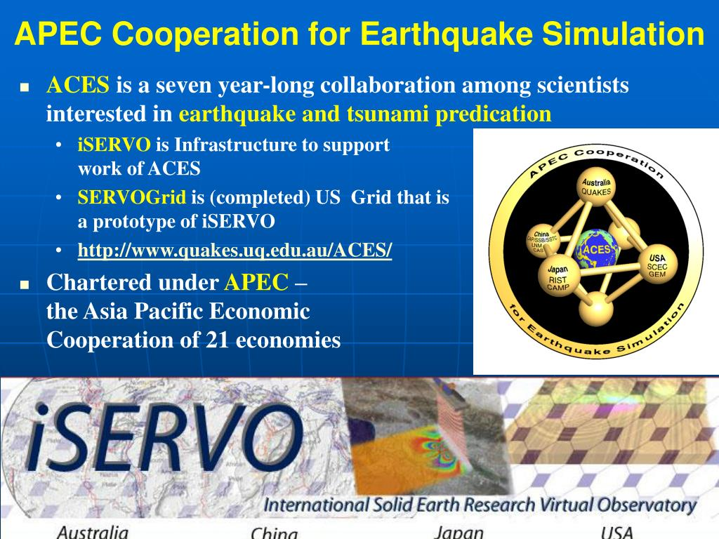 APEC Cooperation for Earthquake Simulation