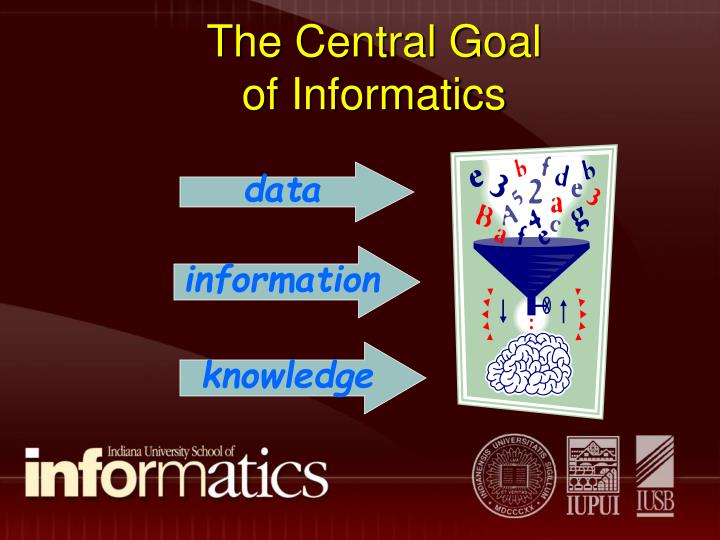 The central goal of informatics