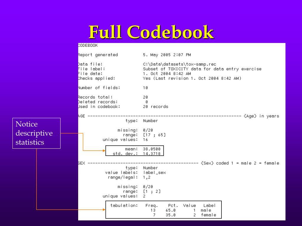 Full Codebook