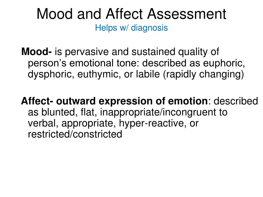 Mood and Affect Assessment