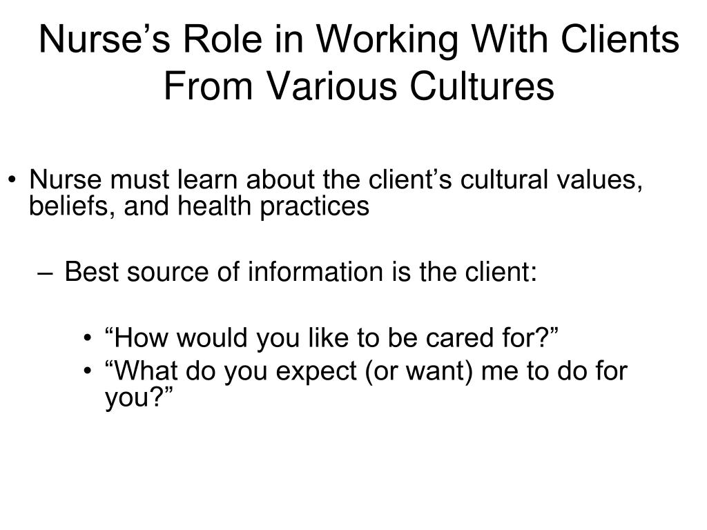 Nurse's Role in Working With Clients