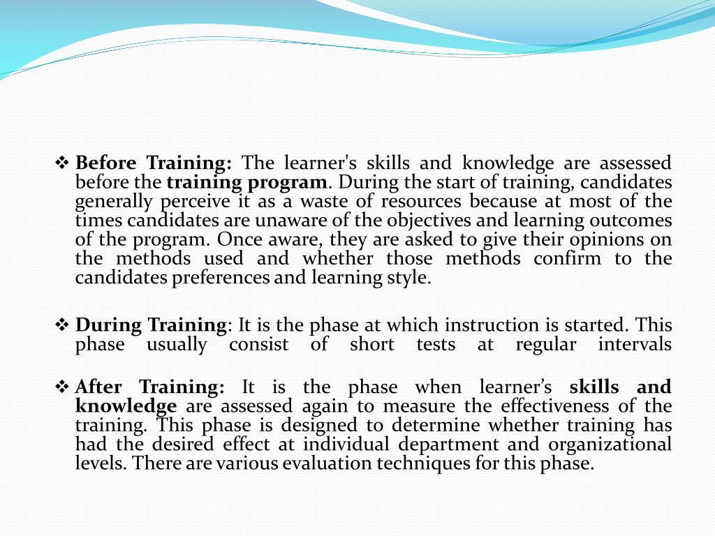 Before Training: