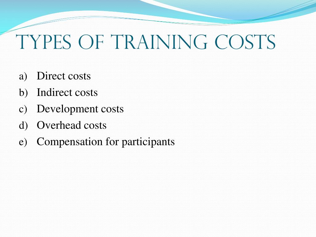 Types of Training Costs