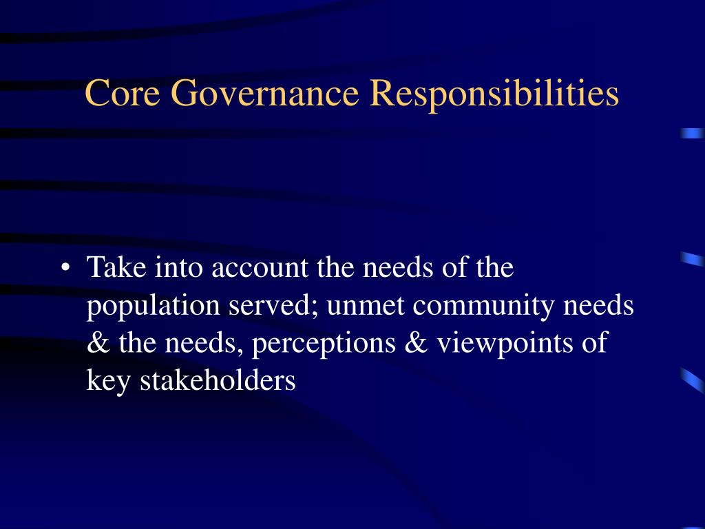 Core Governance Responsibilities