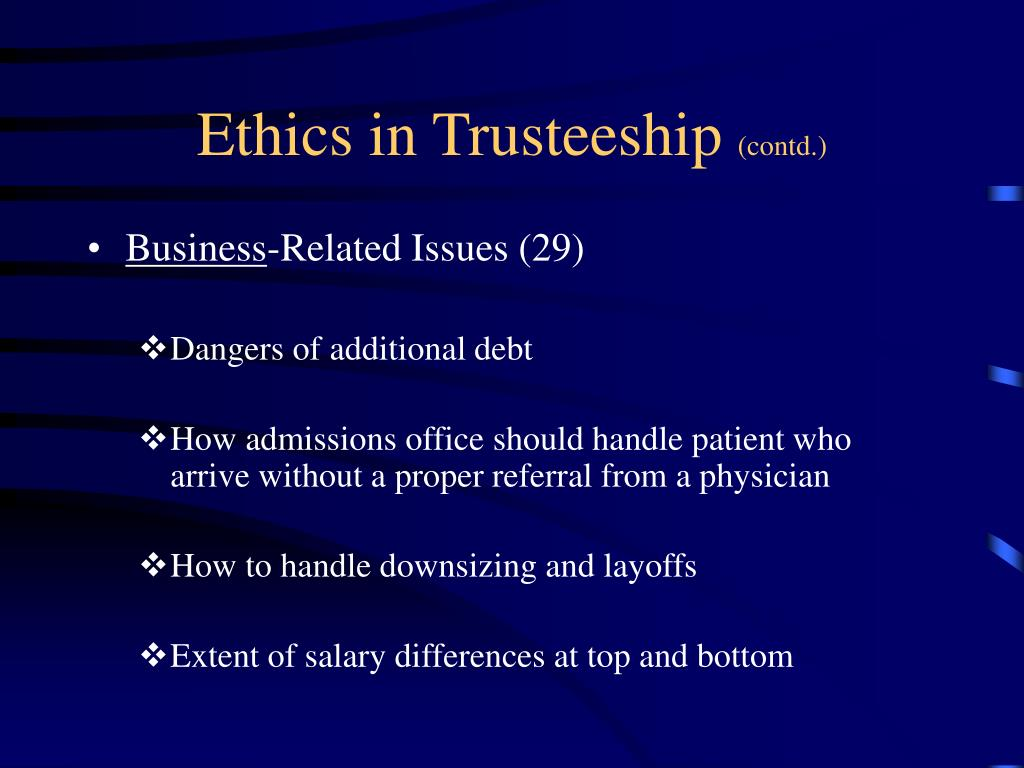 Ethics in Trusteeship