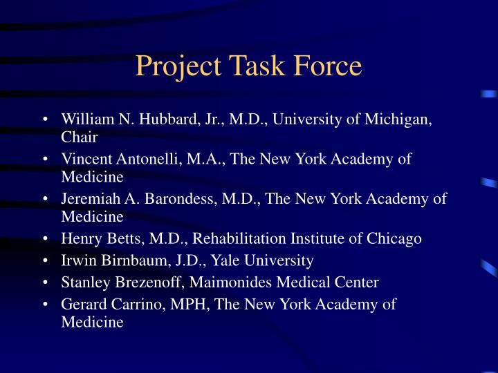 Project task force