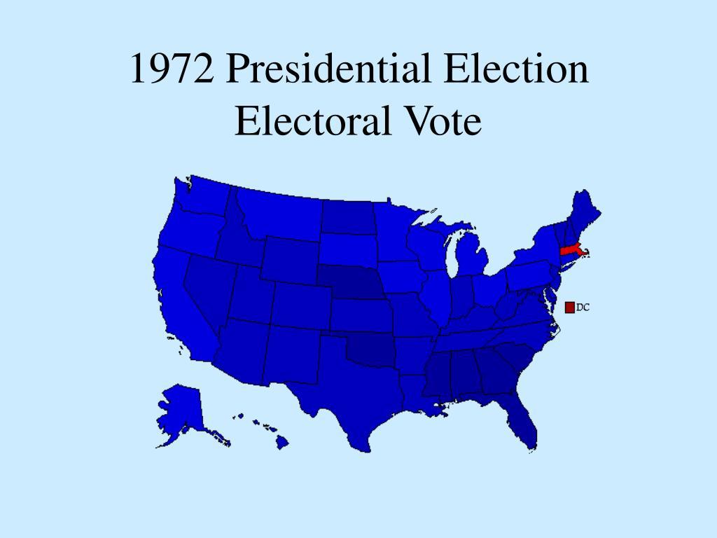 1972 Presidential Election Electoral Vote
