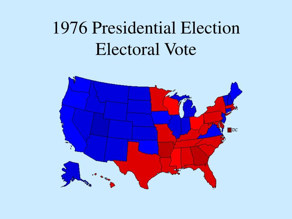 1976 Presidential Election Electoral Vote
