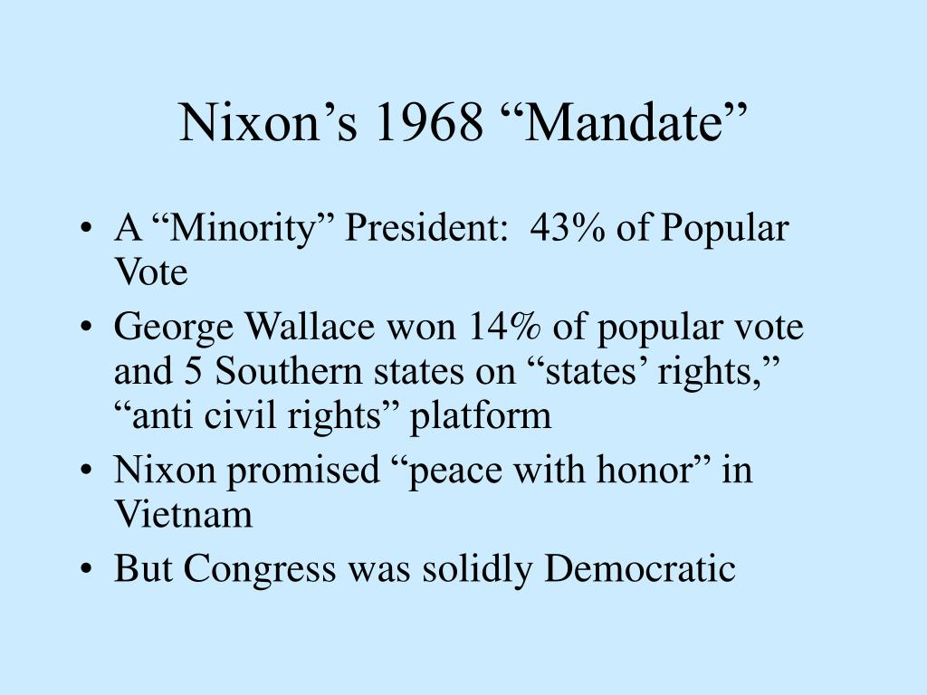 "Nixon's 1968 ""Mandate"""