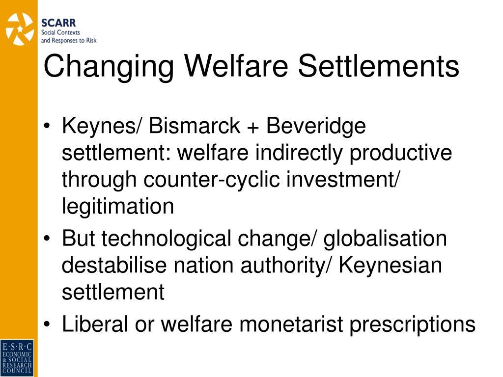 Changing Welfare Settlements