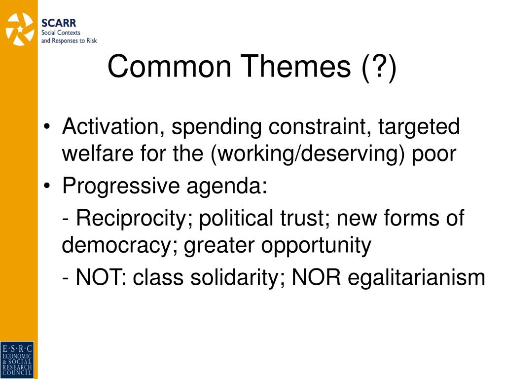 Common Themes (?)