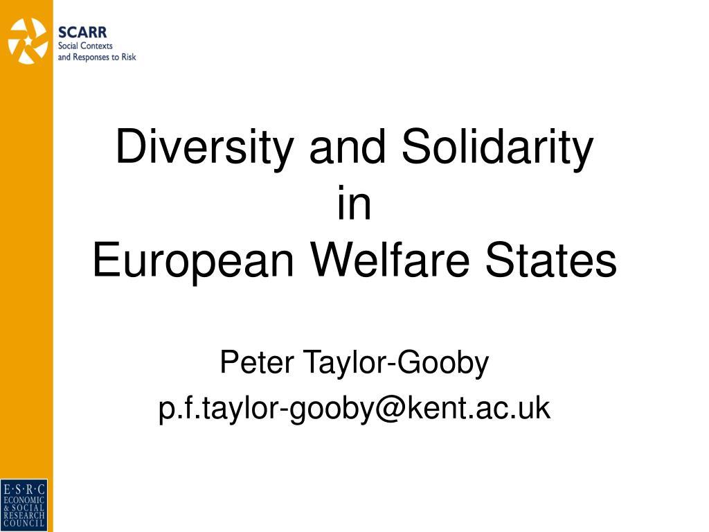 Diversity and Solidarity