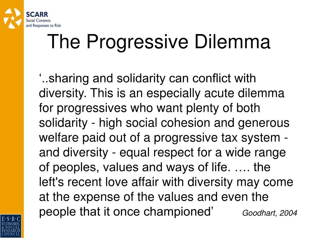The Progressive Dilemma