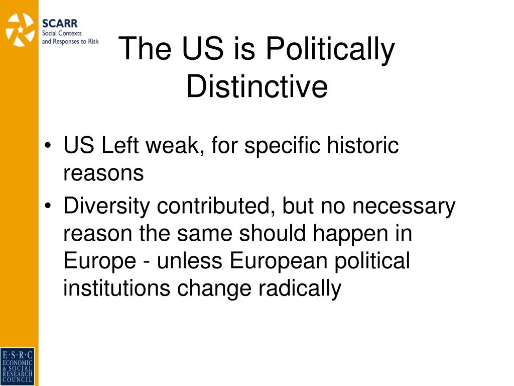 The US is Politically Distinctive
