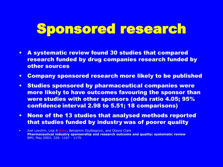 Sponsored research
