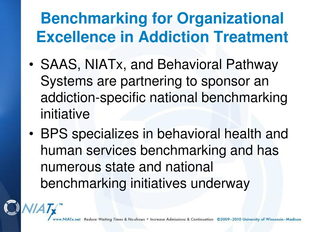 SAAS, NIATx, and Behavioral Pathway Systems are partnering to sponsor an addiction-specific national benchmarking initiative