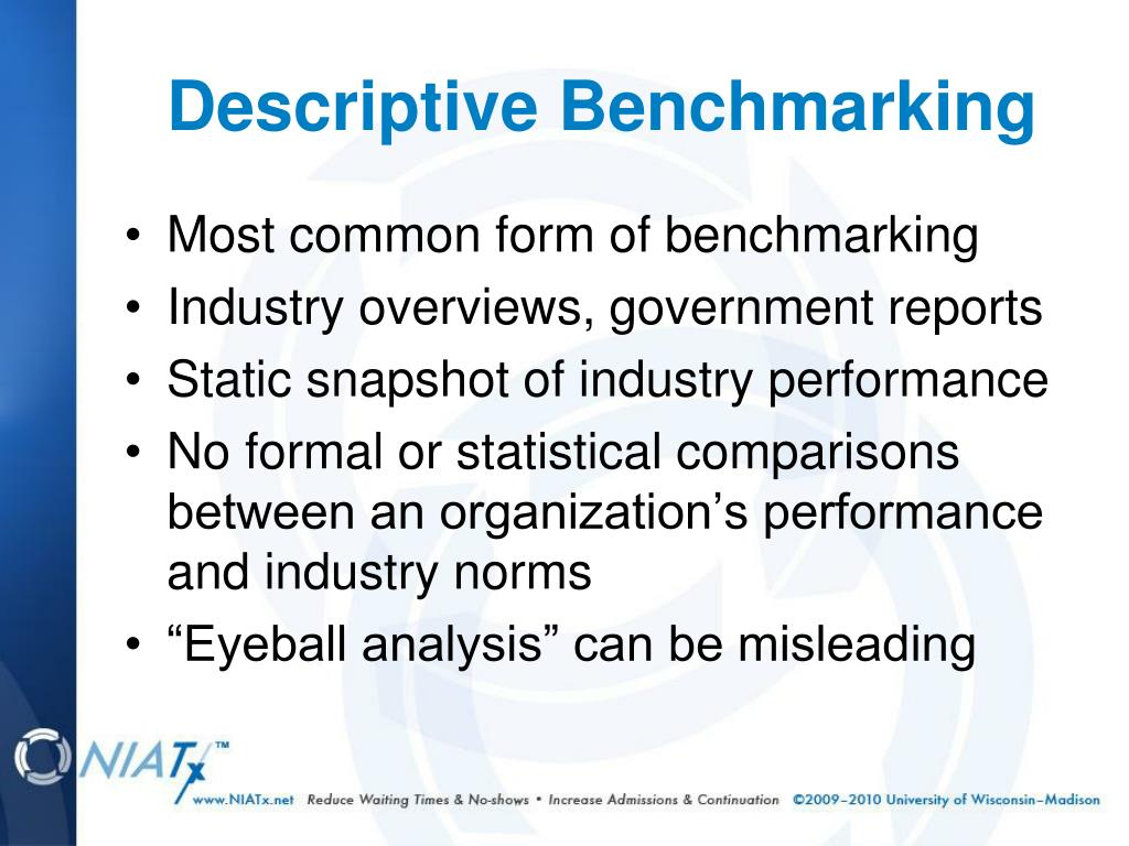Most common form of benchmarking
