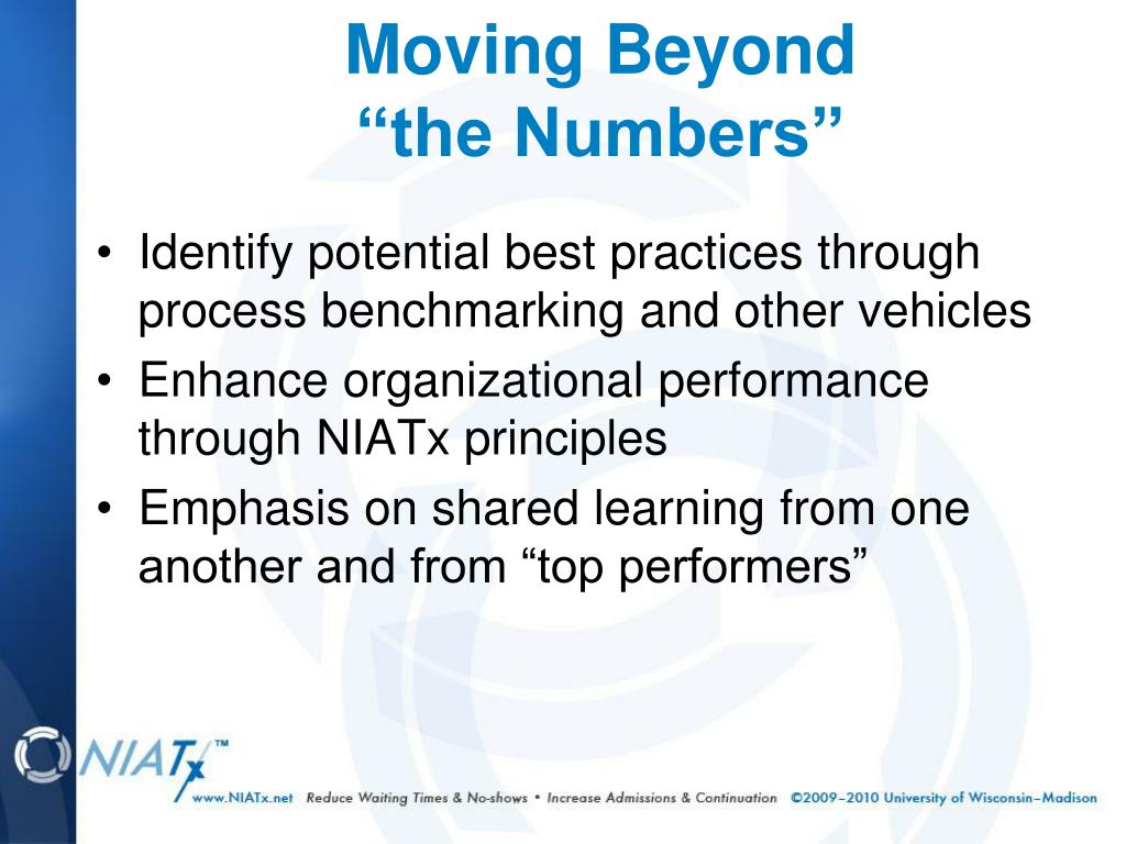 Identify potential best practices through process benchmarking and other vehicles