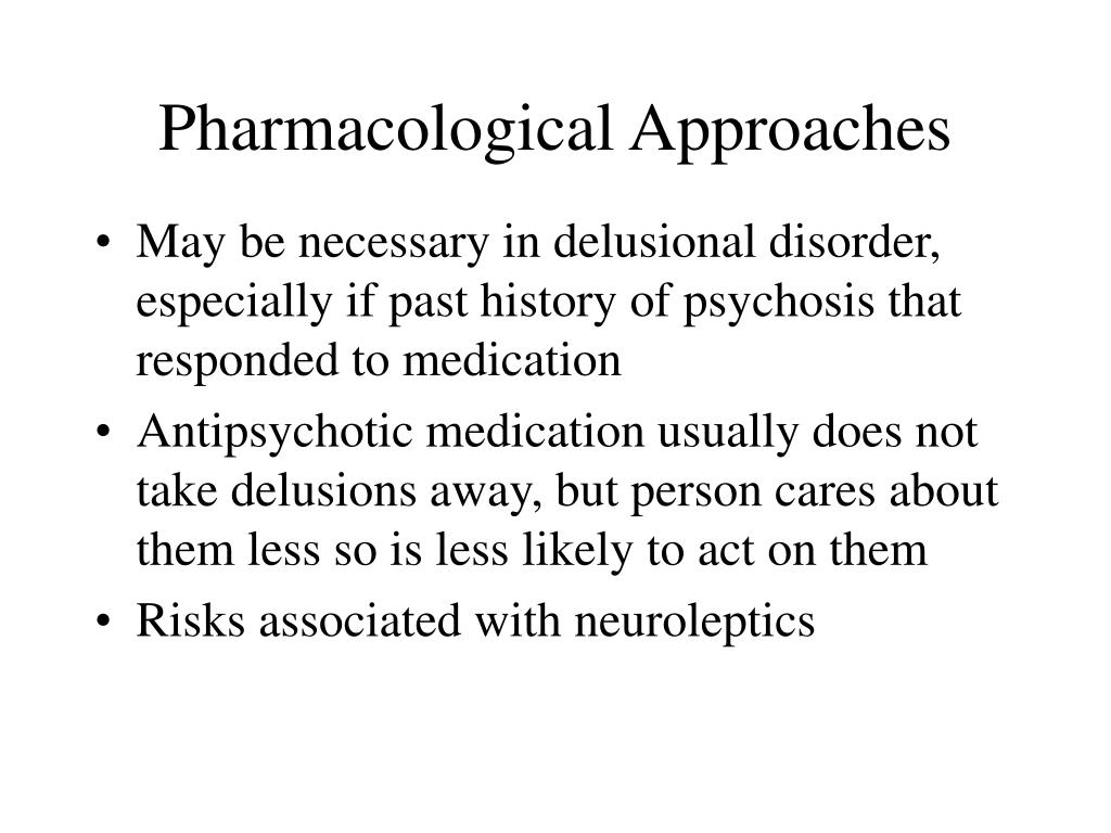 Pharmacological Approaches