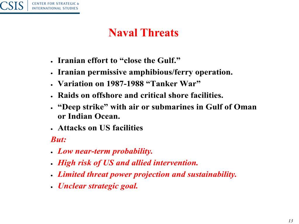 Naval Threats