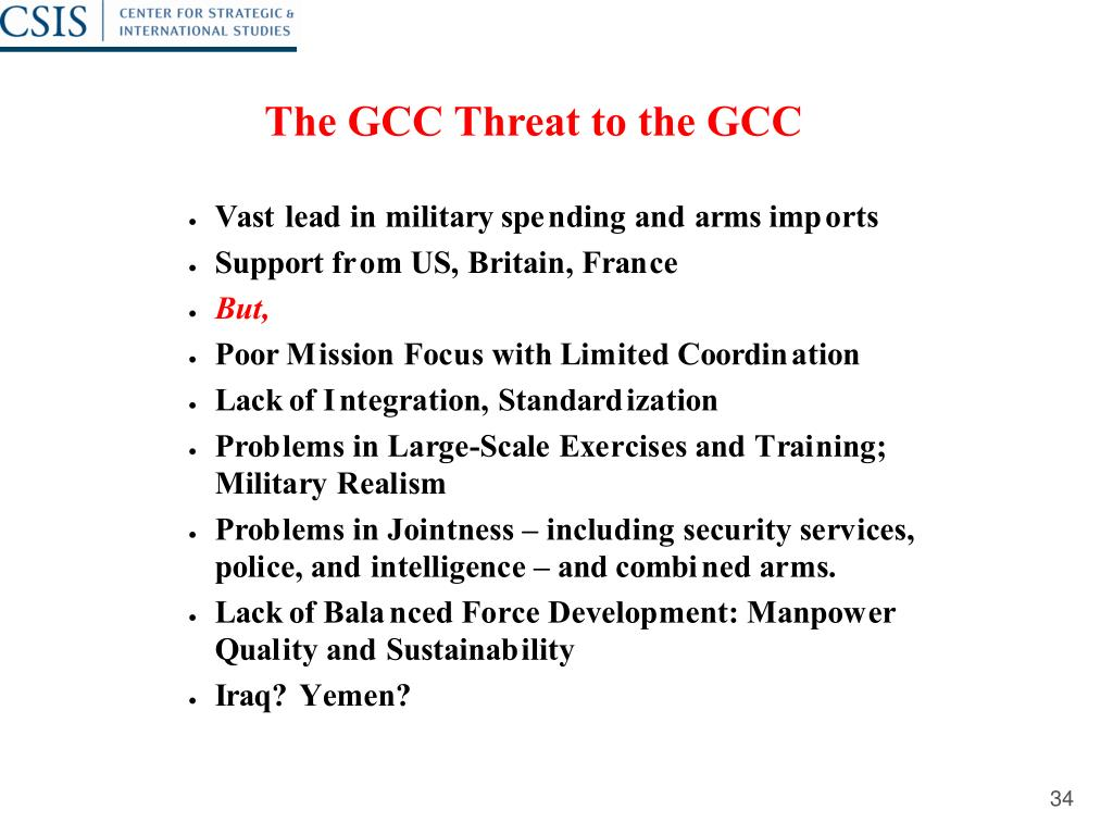 The GCC Threat to the GCC
