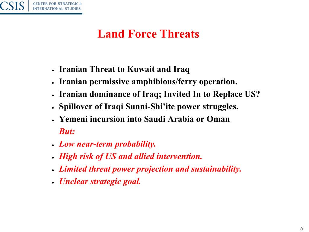 Land Force Threats