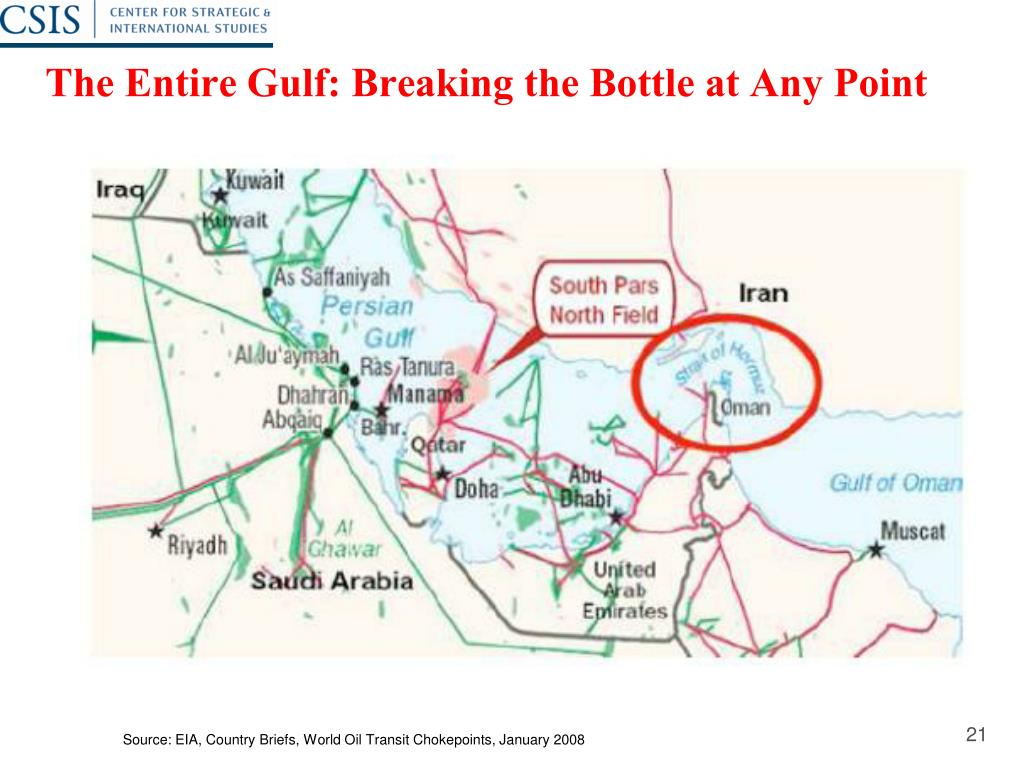 The Entire Gulf: Breaking the Bottle at Any Point