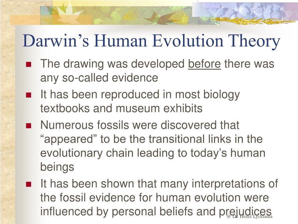 Darwin's Human Evolution Theory