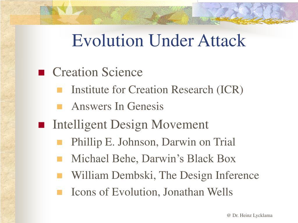 Evolution Under Attack
