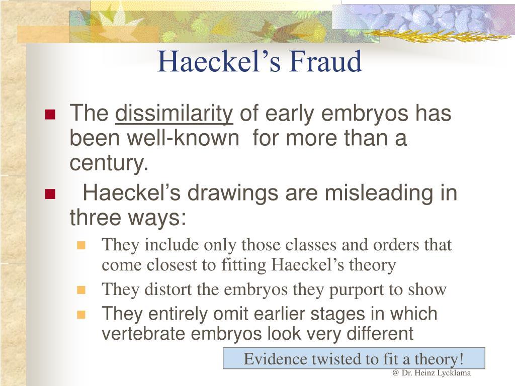 Haeckel's Fraud
