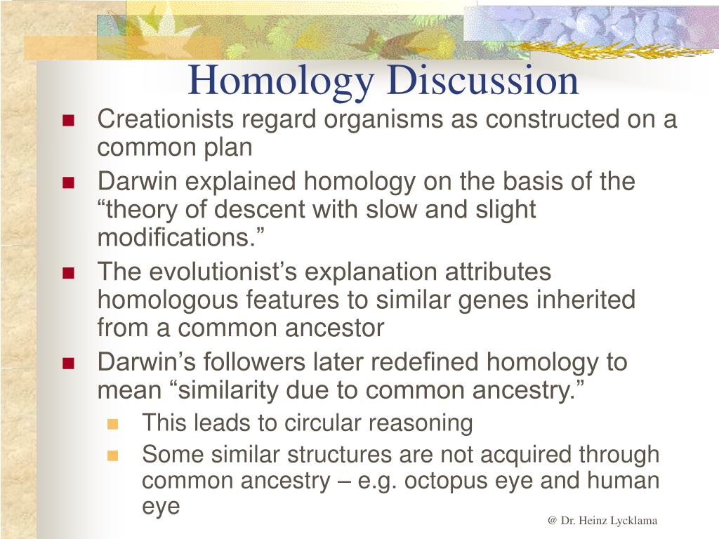 Homology Discussion
